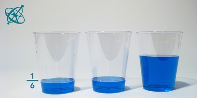 Sciensation hands-on experiment for school: Liquid fractions ( maths, fractions, water)